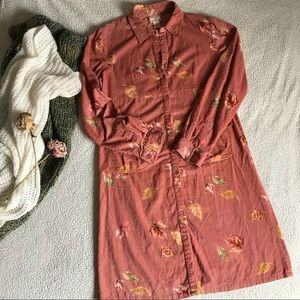 April Cornell Long Sleeve Corduroy Dress